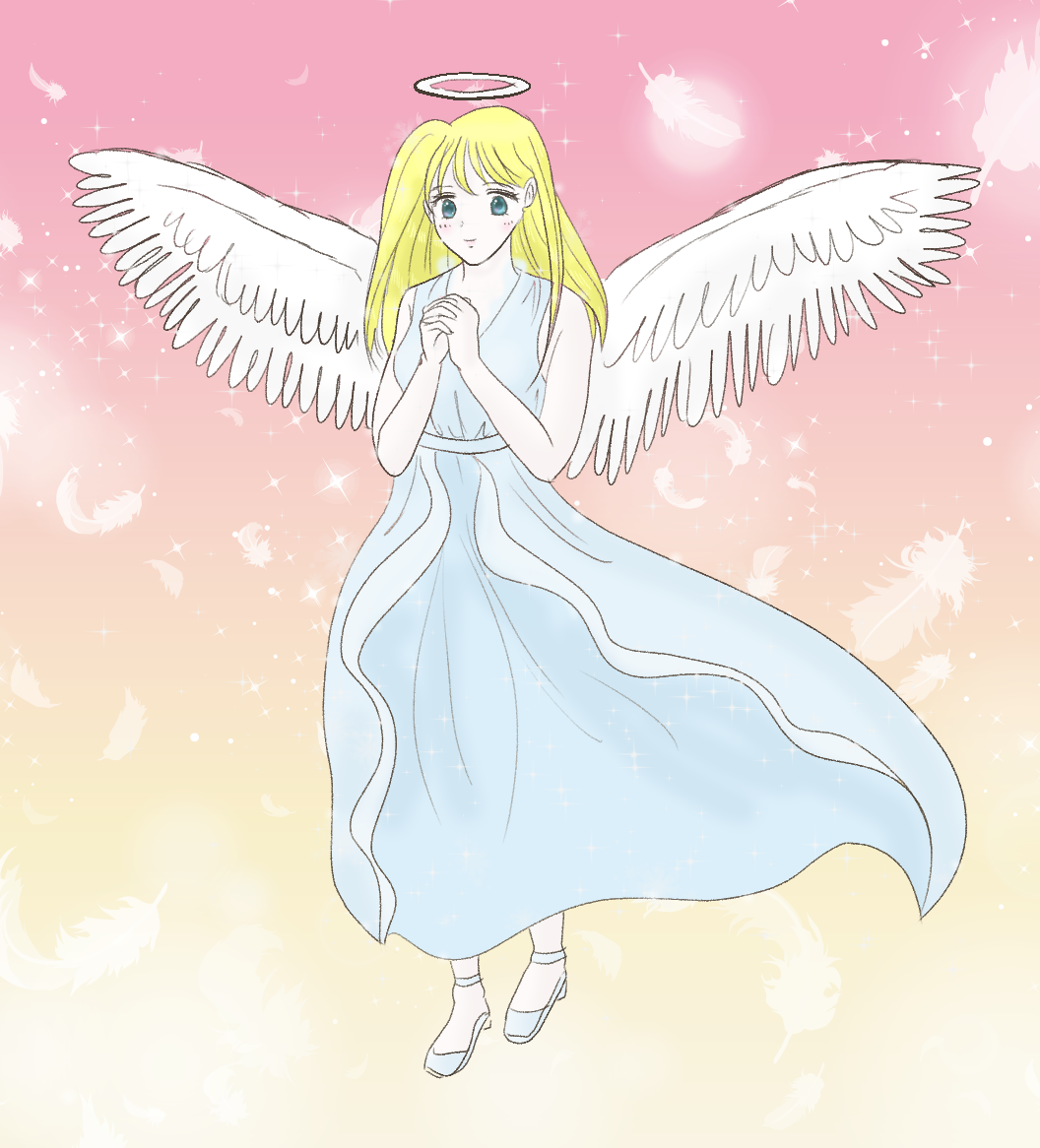 天使の女の子イラスト