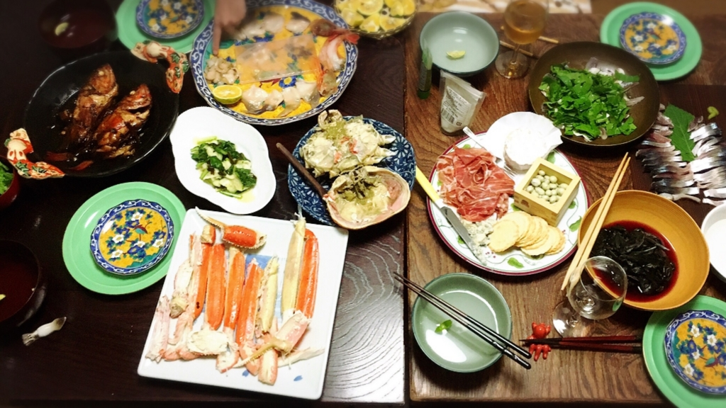 これはある日の贅沢な食卓の写真です