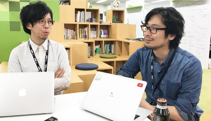 これは源賢司さん(左)と井上誠さん(右)の写真です。