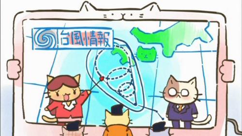 ねこねこ日本史 北条時宗 台風