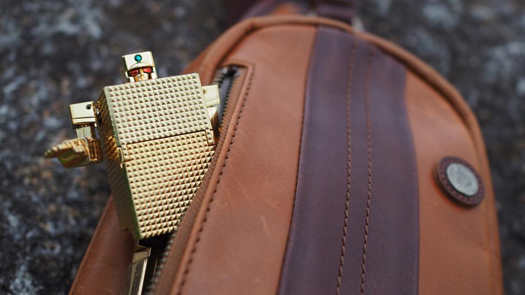 ゴールドライタン 革 ボディバッグ 青木鞄 ラ・ガレリア la galleria 日本製