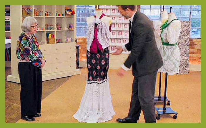 ソーイング・ビー3 リア カーテン リメイク ドレス