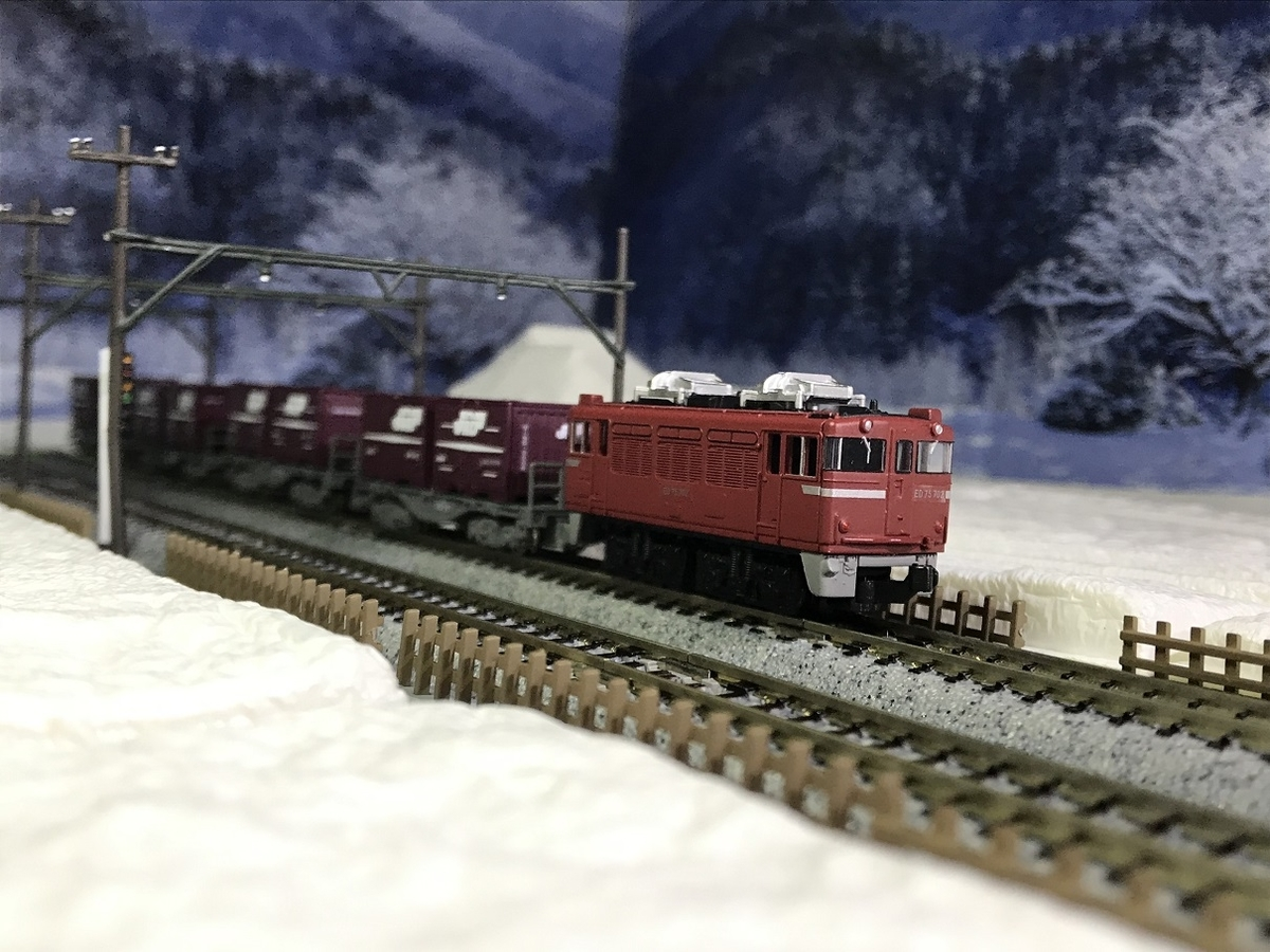ED75 雪景色 ジオラマ