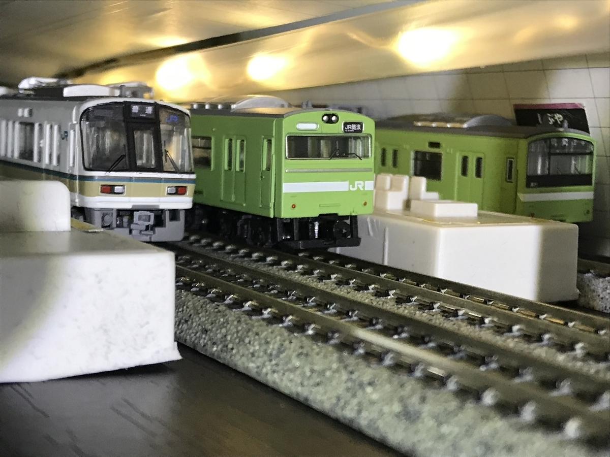 103系 うぐいす 体質改善40N JR難波駅