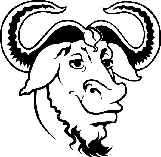 A Bold GNU Head