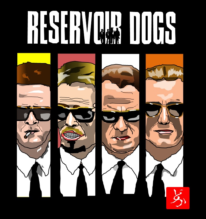 タランティーノのデビュー作「レザボア・ドッグス」のエクセル画