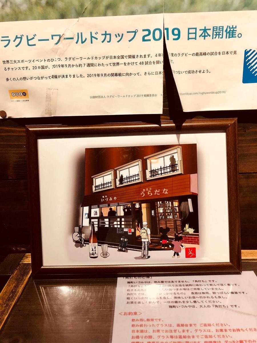 麹町の角打ち「いづみや」の店内とエクセル画
