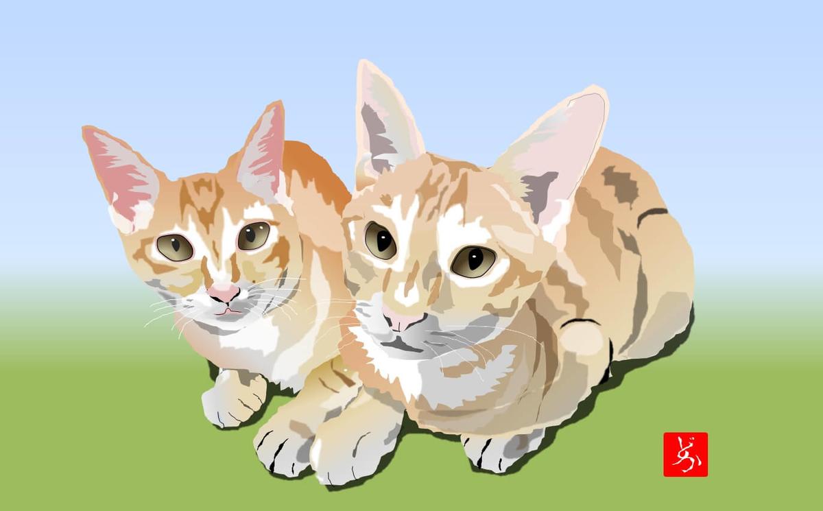 知人の飼い猫のエクセル画イラスト