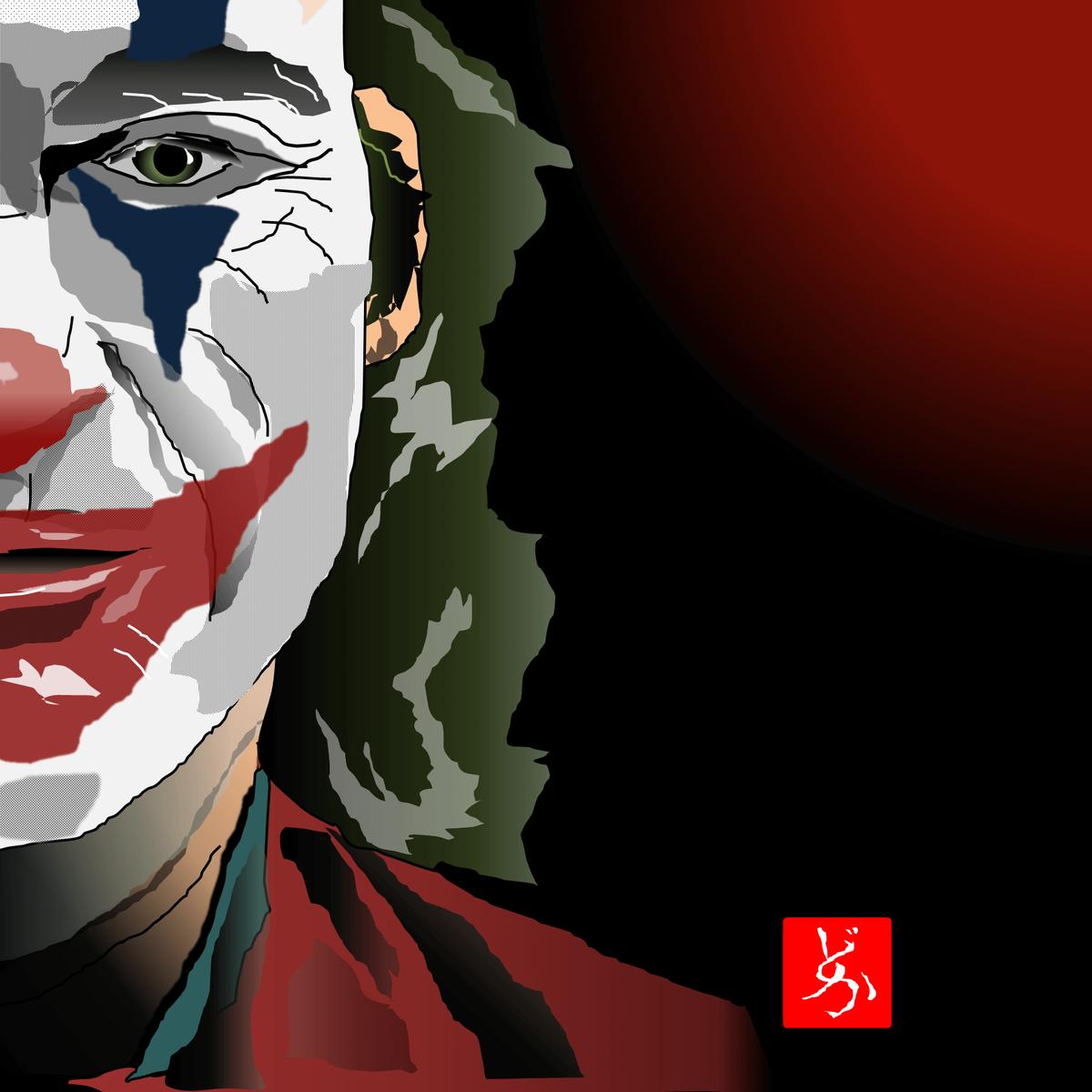 映画「ジョーカー」のエクセル画イラスト