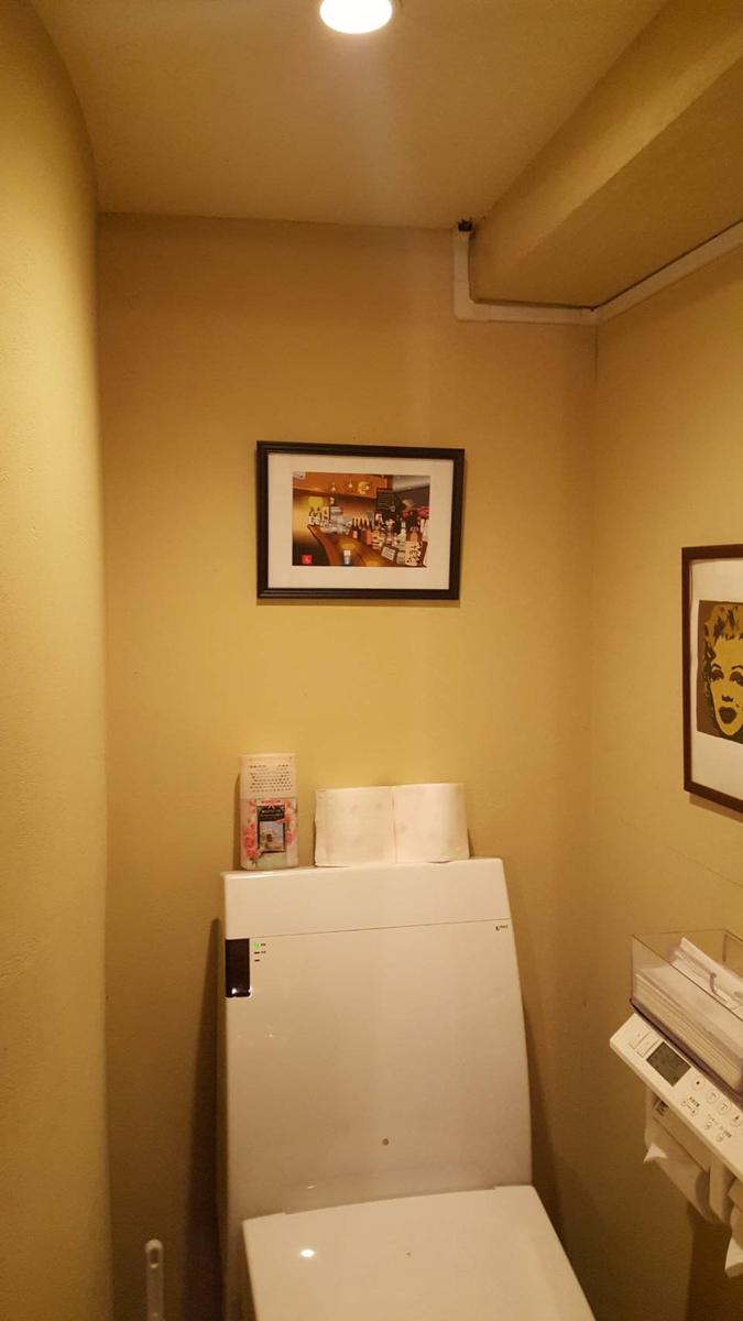 新橋の歌えないスナック「Platinum Fish恵」のトイレに飾ってもらったエクセル画イラスト