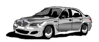 BMWのエクセル画イラスト