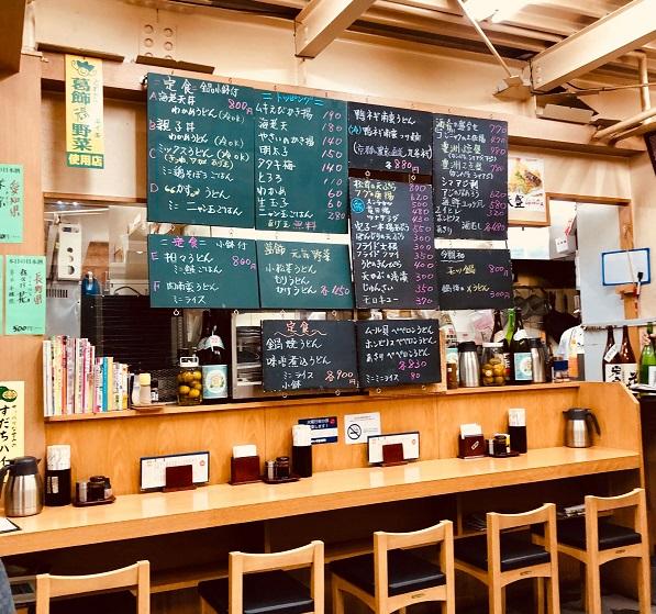 立石「四ツ木製麺所」の店内。