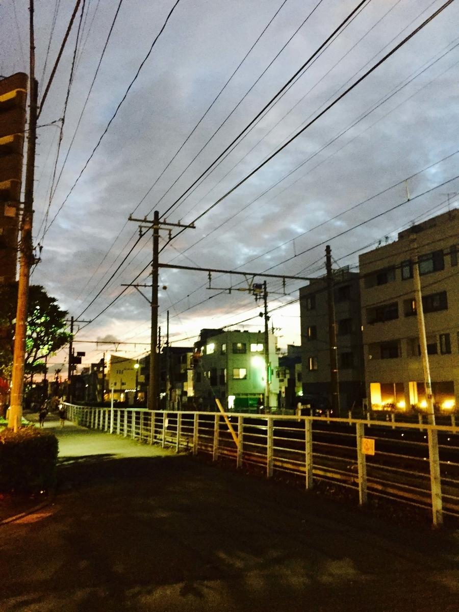 夕暮れの立石駅周辺