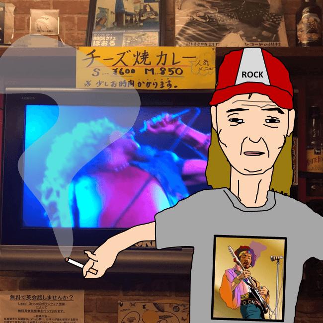 高知市のロックバー「ぽおる」のママのゆるエクセル画イラスト