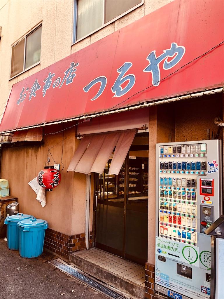 岡山駅前の小野酒店の隣にあった食堂「つるや」