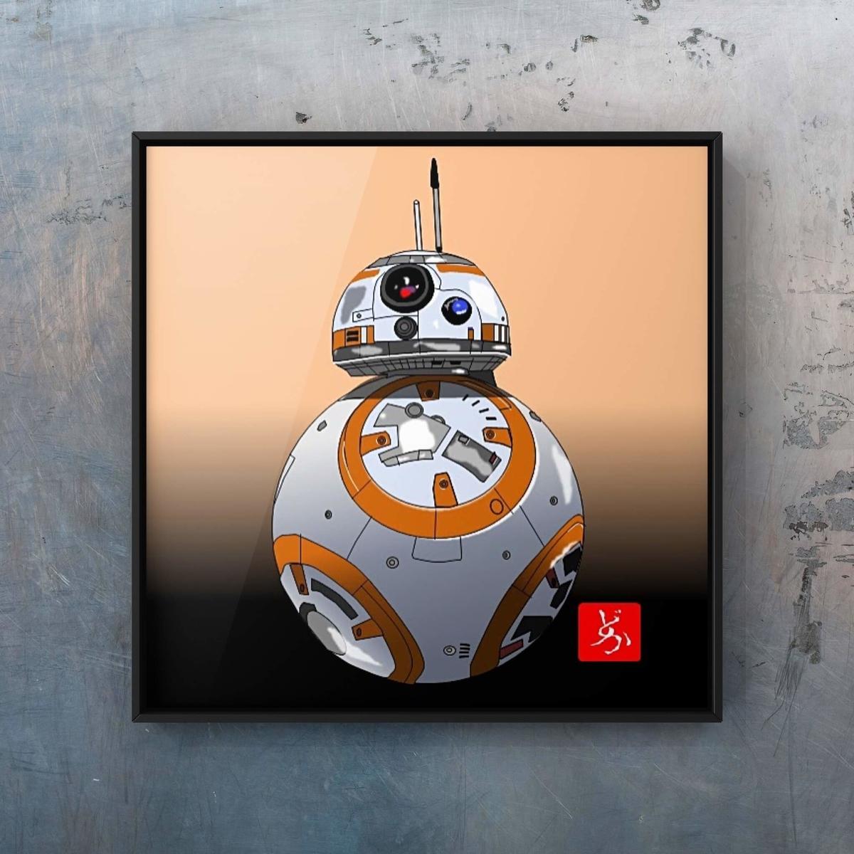 スターウォーズ9 BB-8のエクセル画イラスト額装版