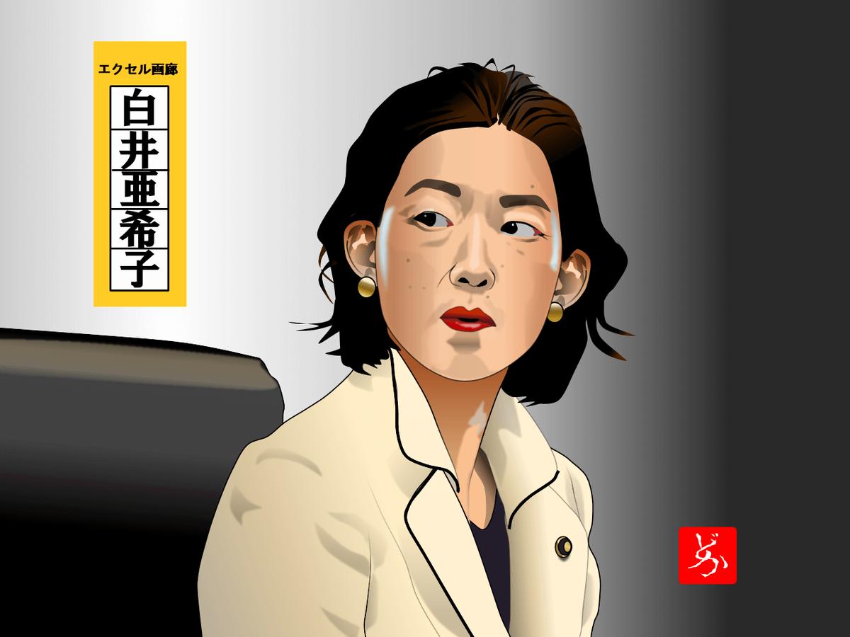 半沢直樹の白井大臣@江口のりこのエクセル画イラスト