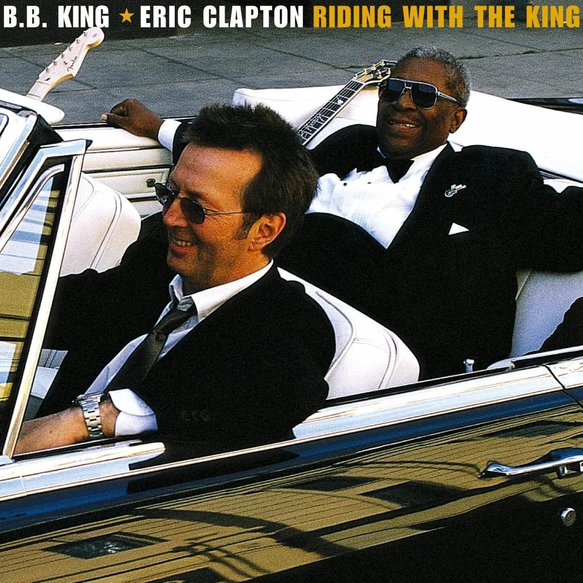 B.B.キング&エリック・クラプトン「ライディング・ウィズ・ザ・キング」のアルバムジャケ