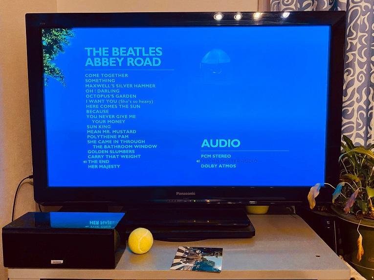 ビートルズ「アビーロード」のBlu-ray Audioの画面