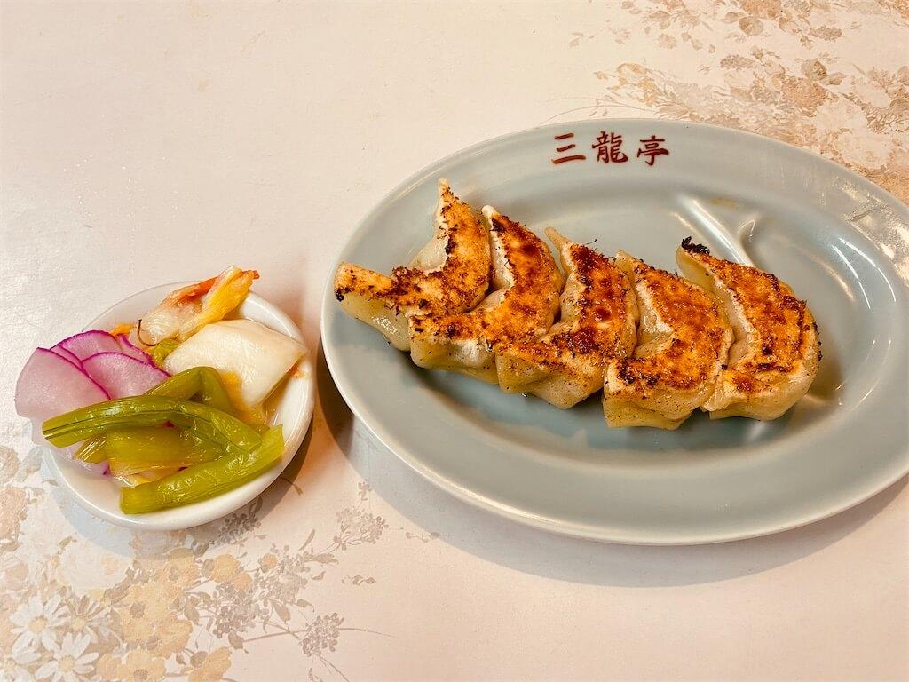 十条西口の町中華「三龍亭」の餃子