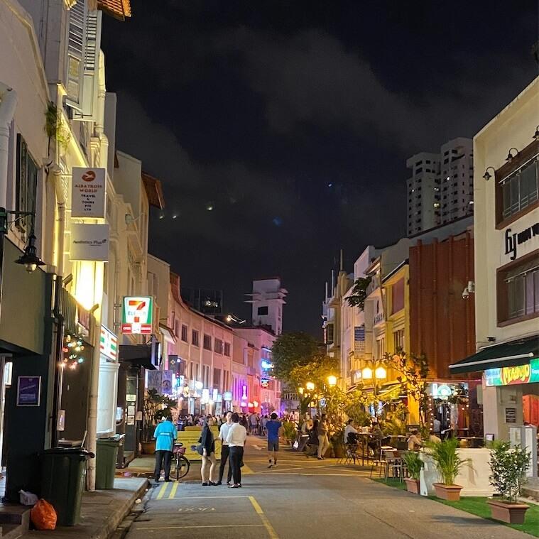 2020年2月のシンガポールの人出が少ない繁華街