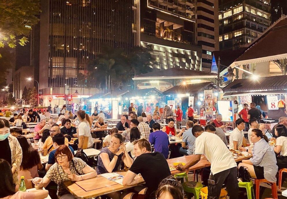 2020年2月、中国系は皆無で欧米系観光客だらけのシンガポールのホーカーズ