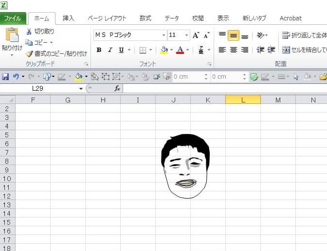 サウナドラマ「サ道」のエクセル画イラスト作画過程4
