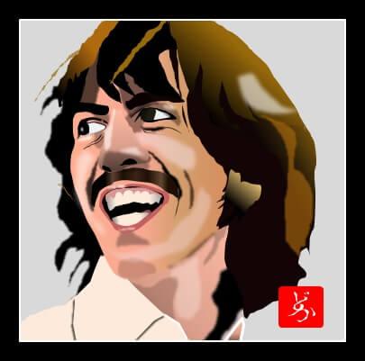 「レット・イット・ビー」のジョージのエクセル画イラスト