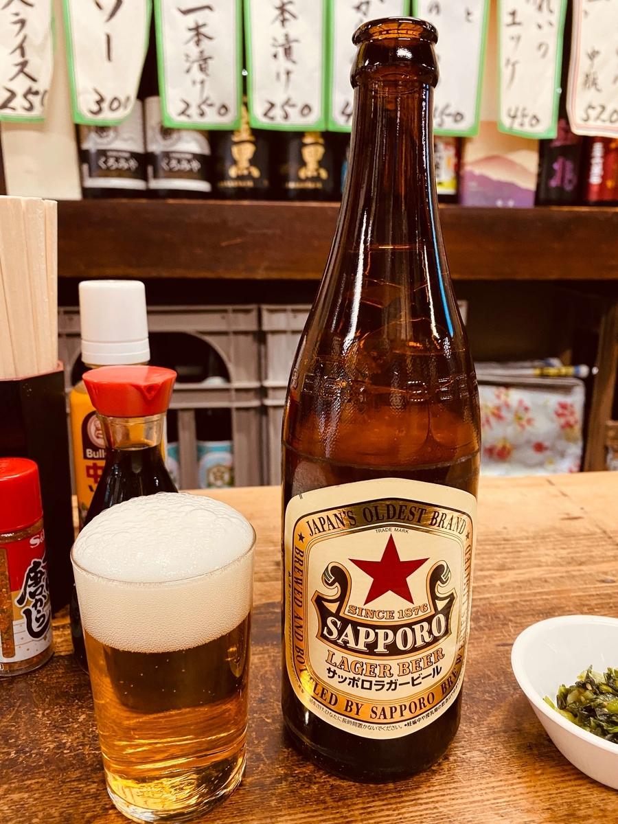 エクセル画の題材、サッポロラガービール(赤星)