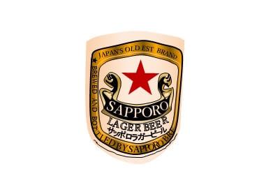 サッポロラガービール(赤星)ラベルのエクセル画イラスト