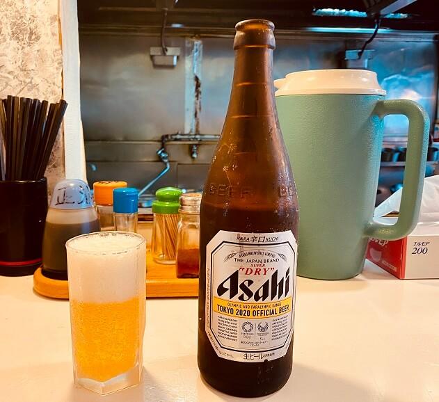 東久留米の町中華「大連」でビール