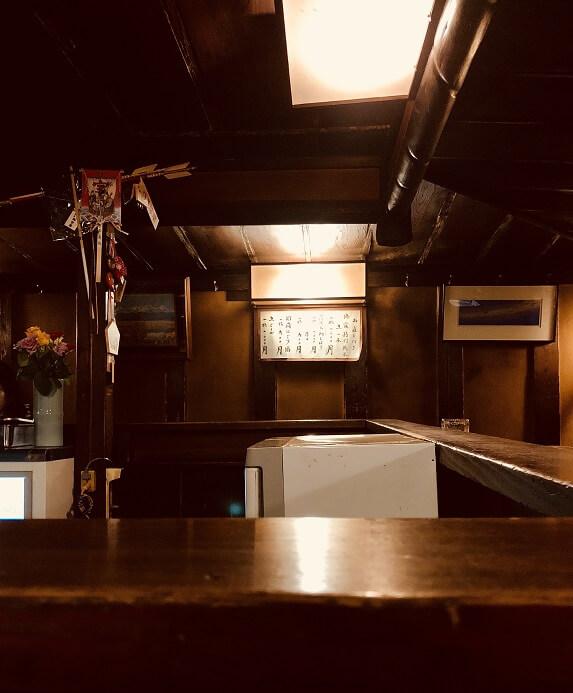仙台の居酒屋「源氏」の店内