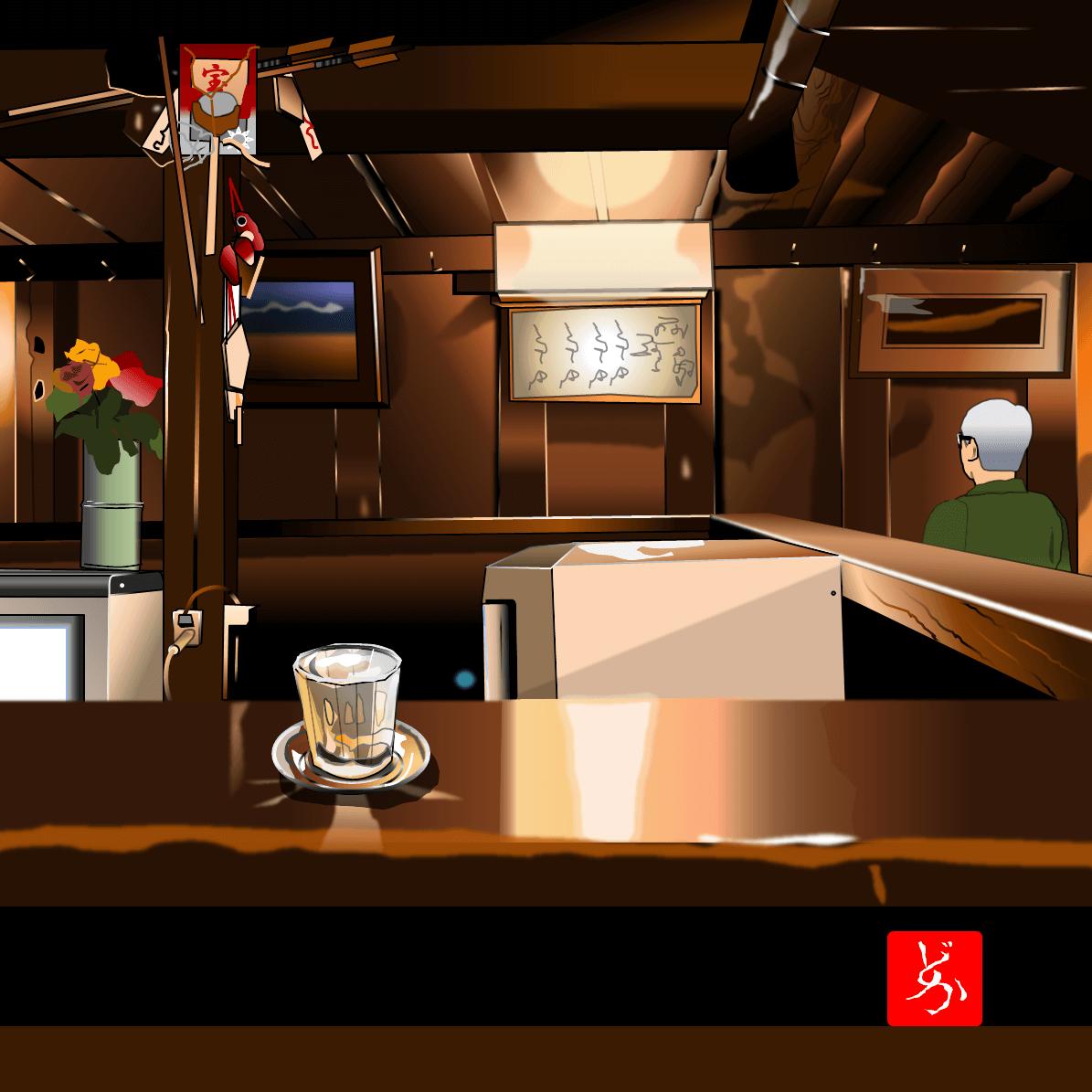 仙台の居酒屋「源氏」のエクセル画イラストバリエーション