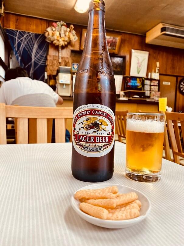 石神井公園の中華・洋食「辰巳軒」でビール