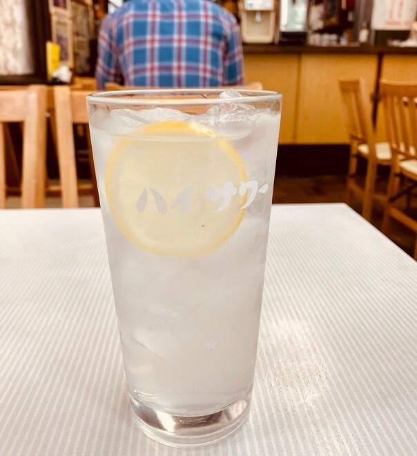 石神井公園の中華・洋食「辰巳軒」でレモンサワー