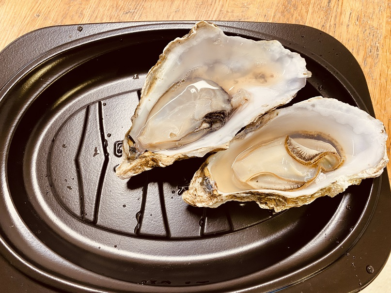 厚岸で蒸牡蠣
