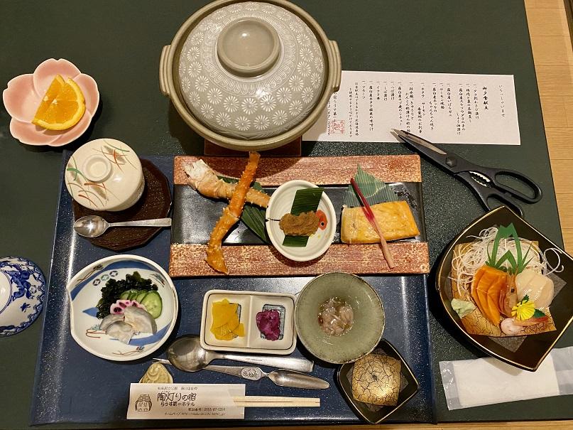 「らうす第一ホテル」の夕食