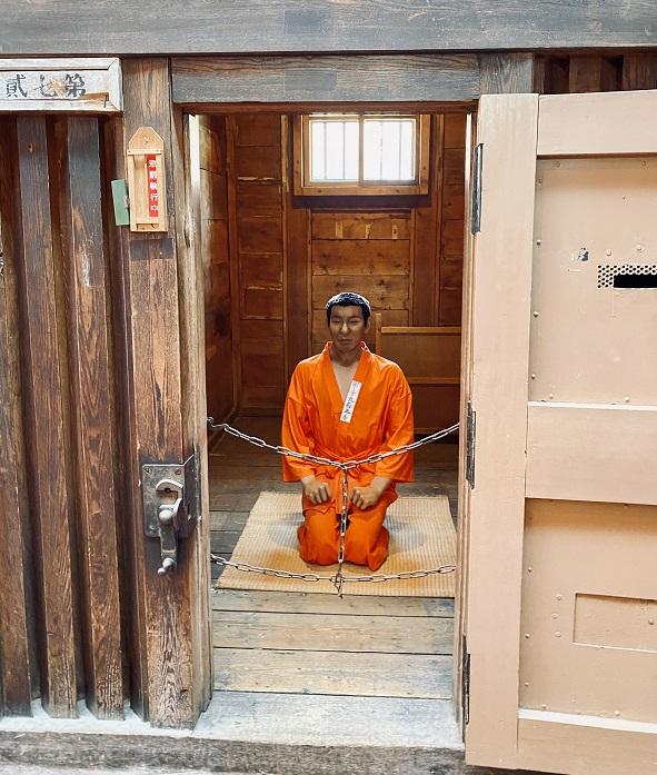 「網走監獄」独居房の囚人マネキン