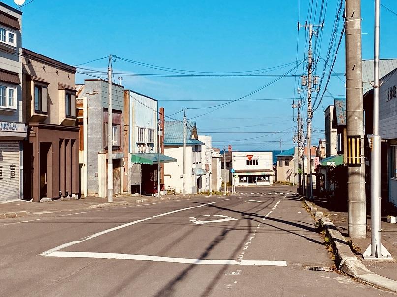 雄武町の中心地みたいなところ
