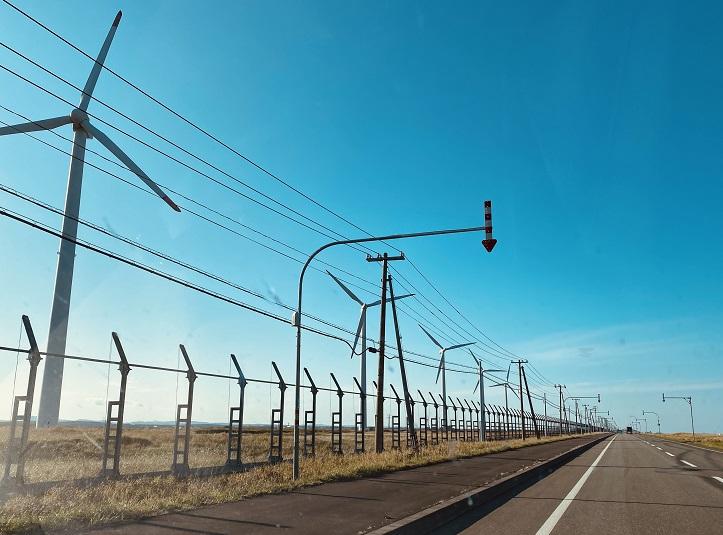 宗谷岬近くの風力発電機