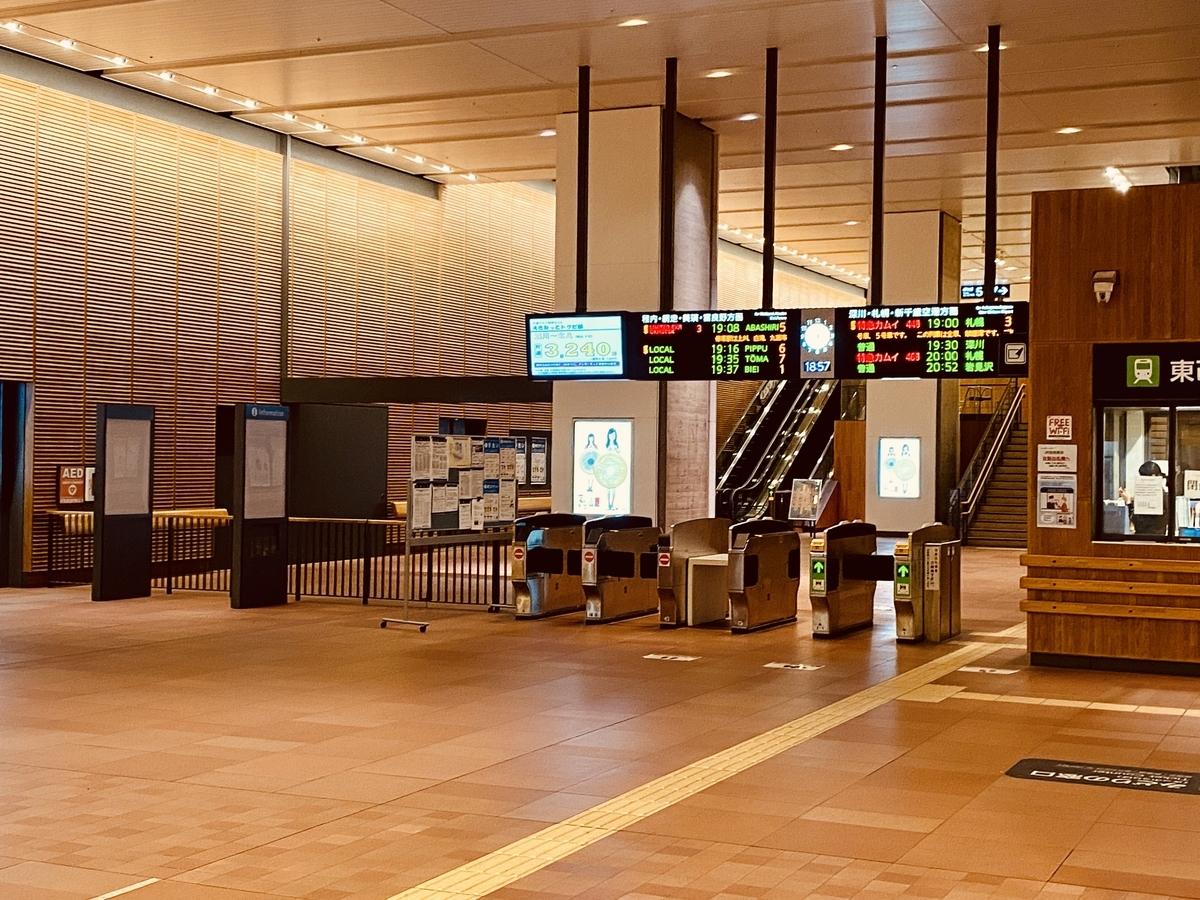 旭川駅の改札周り