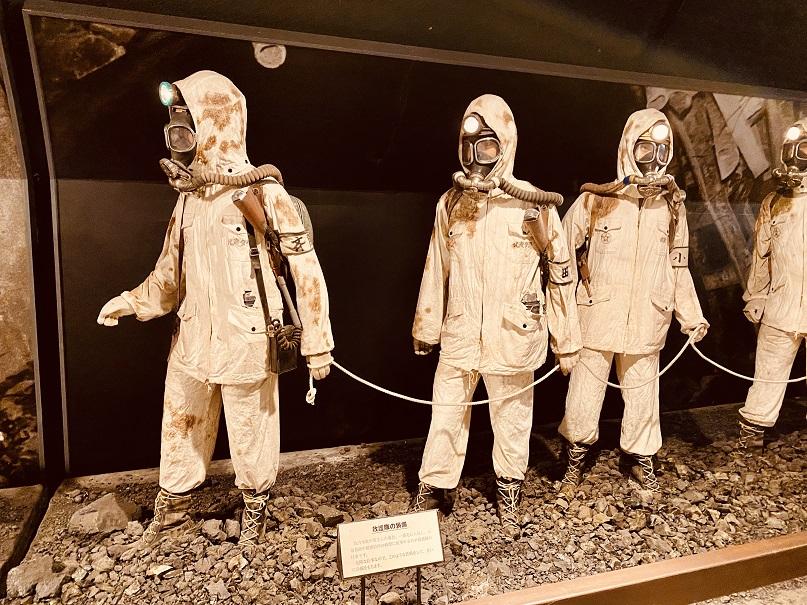 「石炭博物館」のマネキン展示