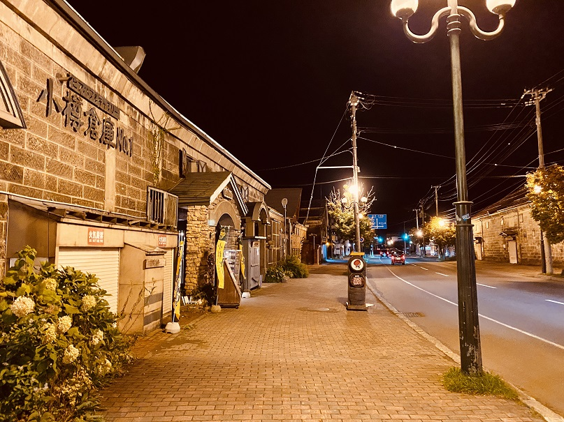 夜の小樽「倉庫街」