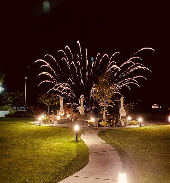洞爺湖の花火ショー