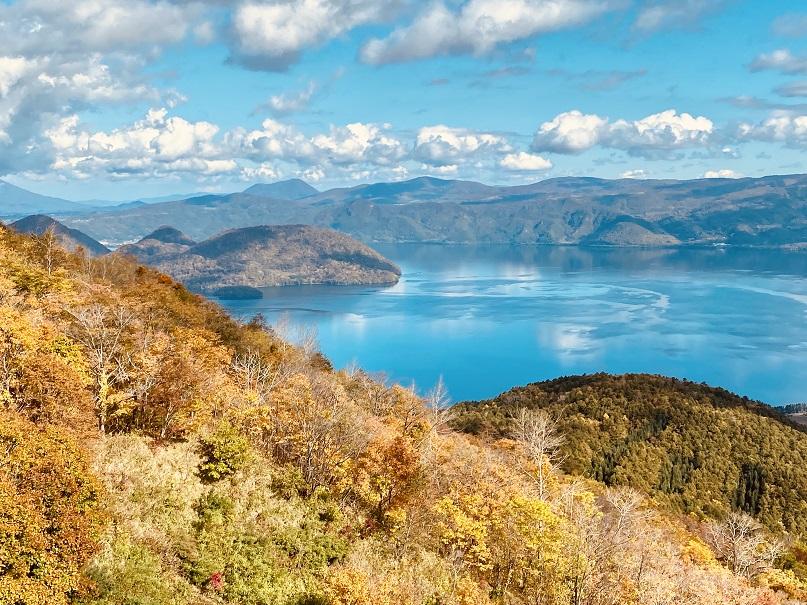 有珠山から見る洞爺湖