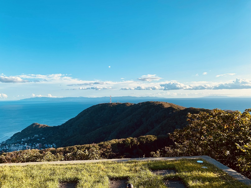 函館山から見える本州=青森県