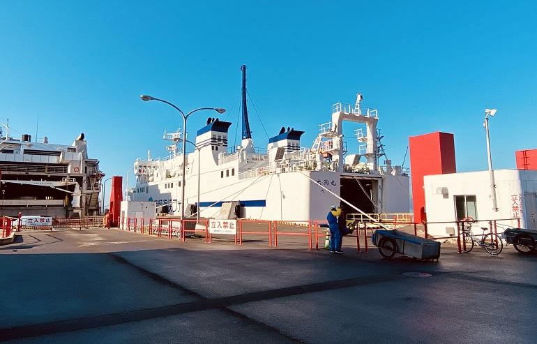函館フェリーターミナルから大間行きへ乗船