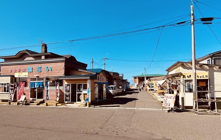 大間の観光客相手の土産物&飲食店。