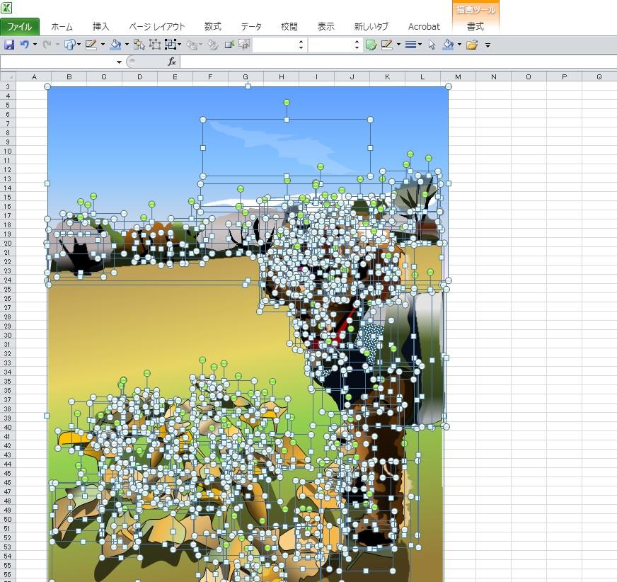 銀杏の葉に萌えるトイプードルのエクセル画イラストドット版