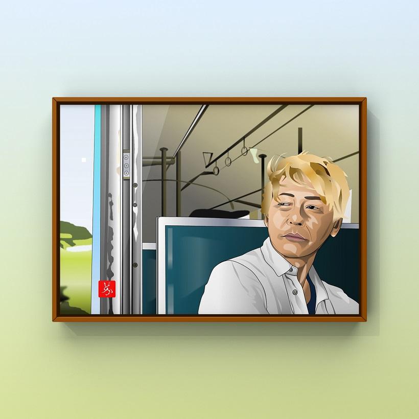 「迷宮グルメ異郷の駅前食堂」のヒロシのエクセル画イラスト額装版
